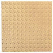 "Raised Circular Design Rubber Tile 19.69"" x 19.69"" x .125"" Camel"