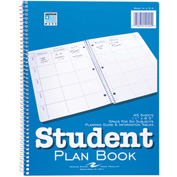 "Roaring Spring Student Plan Book, 11"" x 8-1/2"", White, 45 Sheets/Pad, 24 Pads/Pack"