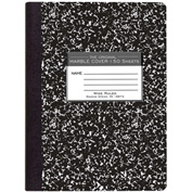 "Roaring Spring Hard Cover Comp Book - Wide Ruled, 9-3/4"" x 7-1/2"", 150 Sheets/Pad, 36 Pads/Pack"