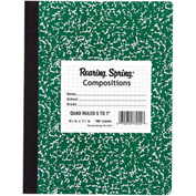 "Roaring Spring Hard Cover Comp Book - Graph Ruled, 9-3/4"" x 7-1/2"", 100 Sheets/Pad, 24 Pads/Pack"