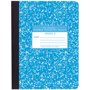 """Roaring Spring Grade Two Composition Book, 9-3/4"""" x 7-1/2"""", White, 80 Sheets/Pad, 48 Pads/Pack"""