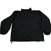 Petra Roc Fleece Work Jacket W/2 Zipped Slash Pockets, Elastic Cuffs, Black, Size L