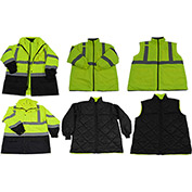 Petra Roc Two Tone Waterproof 6-In-1 Parka Jacket, ANSI Class 3, Lime/Black, Size 4XL