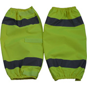 Petra Roc Leg Gaiter, ANSI Class E, 300D Oxford/PU Coating, Lime, One Size, 1 Pair
