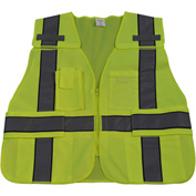Petra Roc Two Tone Expandable 5-Point Breakaway Public Safety Vest, ANSI Class 2, Lime/Navy, 2XL-5XL