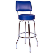 "Richardson Seating Swivel Barstool with Backrest - 30""H - Blue"