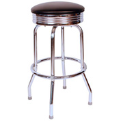 "Richardson Seating Retro Swivel Barstool - 30""H - Black"