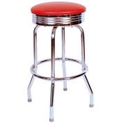 "Richardson Seating Retro Swivel Barstool - 24""H - Red"