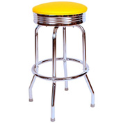 "Richardson Seating Retro Swivel Barstool - 24""H - Yellow"