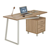 Techni Mobili Modern Design Computer Desk with Storage - Sand
