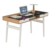 Techni Mobili Compact Computer Desk with Multiple Storage - Walnut