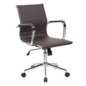 Techni Mobili Modern Techniflex Executive Office Chair - Mid Back - Chocolate