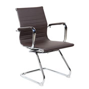 Techni Mobili Modern Techniflex Visitor Office Chair - Mid Back - Chocolate