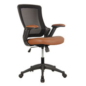 Techni Mobili Mesh Task Office Chair - Mid Back - Brown