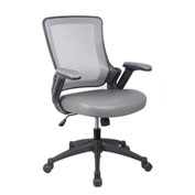 Techni Mobili Mesh Task Office Chair - Mid Back - Gray