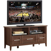 "Techni Mobili Elegant TV Stand with Storage For TVs up to 55"" - Hickory"