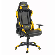 Techni Sport Office PC Gaming Chair - Black and Yellow