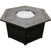Hiland Fire Pit WLF-HEX Propane 40000 BTU Hexagon Bronze With Cover