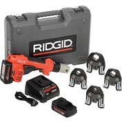 "Ridgid 43428 RP 200 Battery Press Tool Kit w/ProPress Jaws, 1/2"" - 1 1/4"""