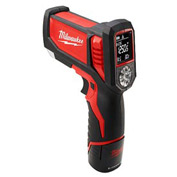 Milwaukee® 2277-21, M12™ Laser TEMP-GUN™ Cordless Thermometer Kit for HVAC/R