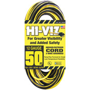 U.S. Wire 55050 50 Ft. Hi Viz Hard Service Vinyl Extension Cord