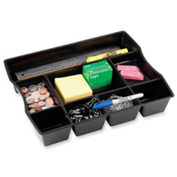 Rubbermaid® Desk Drawer Organizer with 9 Compartments Black