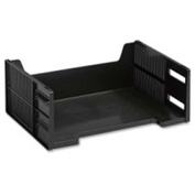 Rubbermaid High-Capacity Stackable Tray Letter Side Loading Black