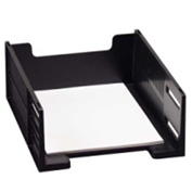 Rubbermaid High-Capacity Stackable Tray Letter Front Loading Black
