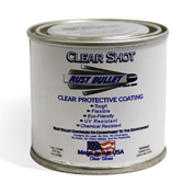 Rust Bullet Clear Shot Coating 1/4 Pint Can 1/Case - CSQP
