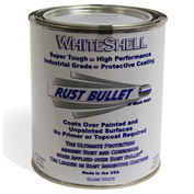 Rust Bullet WhiteShell Rust Inhibitive Coating Quart Can 1/Case - WSQ