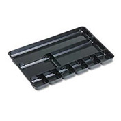 Rubbermaid Regeneration 9-Section Drwr Organizer, Plastic, 14x9-1/8x1-1/8, BLK