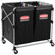 Rubbermaid® 1881781 (2) 4 Bushel Cap. X-Cart Collapsible Multi-Stream Bulk Truck