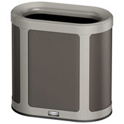 Rubbermaid Enhance™ Pill Shaped Decorative Waste Container, 7 Gallon, Umbra Grey - 1970033