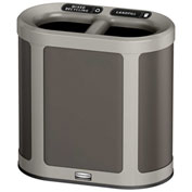 Rubbermaid Enhance™ Pill Shaped Decorative Recycling Container, 7 Gallon, Umbra Grey - 1970034