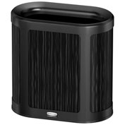Rubbermaid Enhance™ Pill Shaped Decorative Waste Container, 7 Gallon, Ebony - 1970039