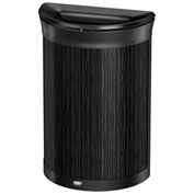 Rubbermaid Enhance™ Half Round Decorative Waste Container, 11.5 Gallon, Ebony - 1970119
