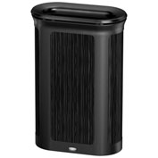 Rubbermaid Enhance™ Pill Shaped Decorative Waste Container, 13 Gallon, Ebony - 1970128