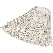 "Rubbermaid® #24 Value Pro Cotton Economy Wet Mop W/ 1"" Headband- FGV11800WH00 - Pkg Qty 12"