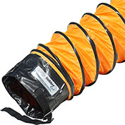 "Rubber-Cal ""Air Ventilator Orange"" Ventilation Duct Hose, 4""ID x 25'L (Fully Stretched)"
