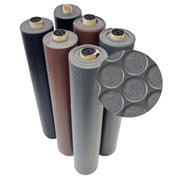 Rubber-Cal Coin-Grip Anti-Slip Rubber Mat - 2mm x 4ft x 8ft Rolled Rubber - Brown