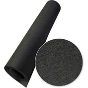"Rubber-Cal ""Elephant Bark"" Rubber Flooring Rolls, 1/4""THK x 4'W x 10'L, All Black"