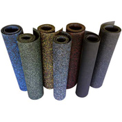 "Rubber-Cal ""Elephant Bark"" Rubber Flooring Rolls, 3/8""THK x 4'W x 12'L, Blue Dot"