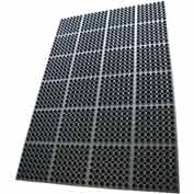 "Rubber-Cal ""Dura-Chef"" Rubber Kitchen Mats, 7/8""THK x 38.5""W x 58.5""L, Black"