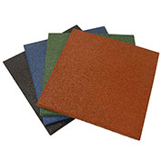 "Rubber-Cal ""Eco-Sport"" Interlocking Rubber Tiles, 3/4""THK x 20""W x 20""L, 8.5 Sq/ft Coverage, Coal - Pkg Qty 3"