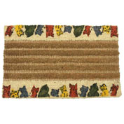 "Rubber-Cal ""Kitty Cat"" Coco Doormats, 18""W x 30""L, Outdoor Entrance Mat"