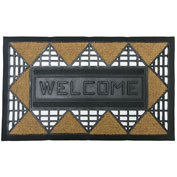"Rubber-Cal ""Welcome Back"" Coco Coconut RubberWelcome Mat, 18""W x 30""L, Door Mat"