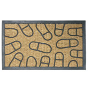 """Rubber-Cal """"Coming and Going"""" Coco Rubber Doormat, 18""""W x 30""""L,Welcome Mat"""