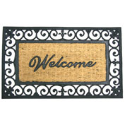 """Rubber-Cal """"Welcome to Your Fortress"""" Rubber Coir Door Mat, 18""""W x 30""""L,Welcome Mat"""