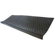 "Rubber-Cal ""Coin-Grip"" Step Mats, 9.75""W x 29.75""L, Stair Tread Mats, Black"