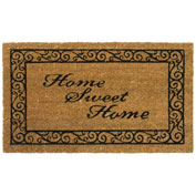 "Rubber-Cal ""Home Sweet Home""Welcome Doormat, 18""W x 30""L, CoirWelcome Mat"